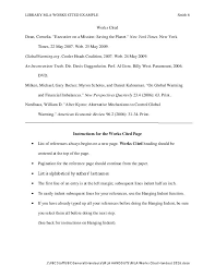 Cited Works Mla Format Mla Formatting 8th Ed Citation Guide Central Indiana Ivy Tech