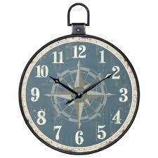 threshold wall clock clocks aged pocket watch style wall clock threshold wall clock wood grain finish threshold wall clock