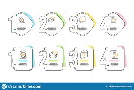 Pie Chart Check Article And Architectural Plan Icons Set