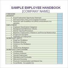 handbook template company handbook template template business