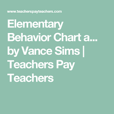 Elementary Behavior Chart And Graphs Assessments And