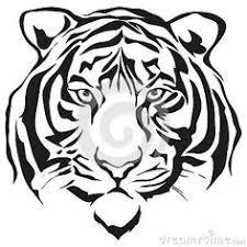 tiger head clip art black and white. Tiger Silhouette Vector Design Images Stencil Art And Head Clip Black White