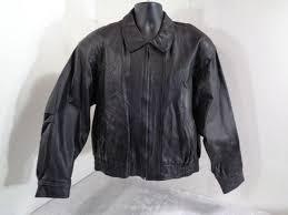 pioneer wear black leather jacket men s medium lambskin very soft coat