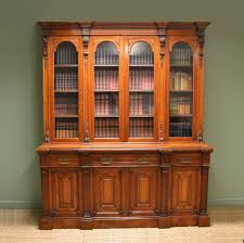Grand Victorian Solid Oak Antique Library Bookcase
