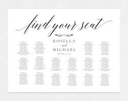 Wedding Seating Chart Shr168 Spon Information Text