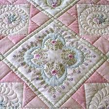 80 best Designs by Janet Sansom images on Pinterest | Cushions ... & Addicted To Quilts: Two Pretty Embroidery Quilts. Adamdwight.com