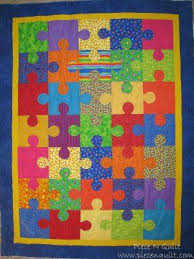 Mer enn 25 bra ideer om Puzzle quilt på Pinterest ... & I love puzzles and this would be cool to quilt Adamdwight.com