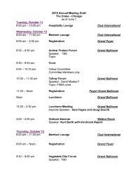 Annual Agenda 24 AFOA Annual Meeting Draft Agenda American Fats And Oils 6