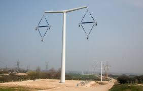 New Pylon Design National Grid Builds Trial T Pylon Transmission Line April