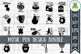Descubre nuestra selección glam ma svg. Music Puns Design Bundle Graphic By Funkyfrogcreativedesigns Creative Fabrica