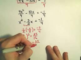 to solve quadratic equations