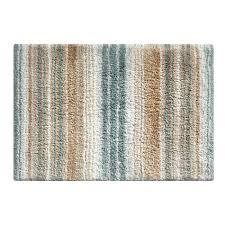haven skid resistant spa blue tan striped bath rug 21 x 34 striped bathroom rugs
