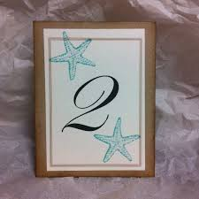 67 best wedding table number and place cards images on pinterest Beach Themed Wedding Place Cards starfish beach wedding table numbers,nautical table numbers,reception numbers beach themed place cards for wedding