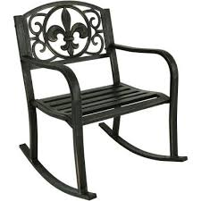 cast iron rocking chairs patio