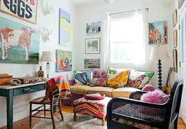 boho chic wall decor decorating living room walls