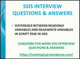 Ssis Interview Questions Ssis Interview Questions Diff Between Readonly Variables And