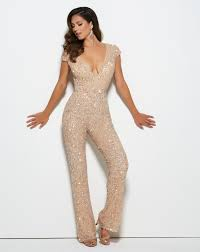For a nontraditional look for prom rock a jumpsuit like this.