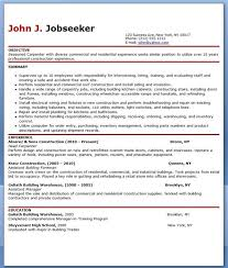 Carpentry Contract Template Free Carpenter Resume Templates Creative