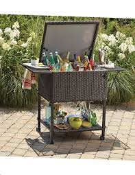 wayfair for all the best patio coolers rattan wicker this sleek stainless steel cooler ice cart is especially convenient with its raised design