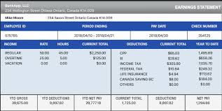 Pay Stubs Maker Download Canadian Payslip Paystub Maker For Free Good For