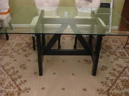 glass trestle dining table maggieepage com