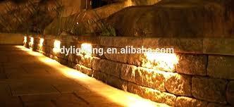retaining wall lights led under deck rail stone cap light masonry retaining walls light low voltage