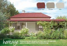 exterior color schemes with red roof. haymes paint exterior colour scheme: colorbond manor red is the roof, windsor color schemes with roof