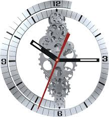 gear wall clock oversized moving india
