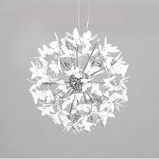 Butterfly Light Fixture 19 7 Inch Sputnik Chandelier Creative Led Butterfly Ceiling