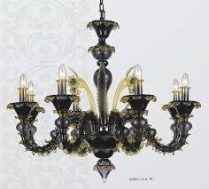 hanging black murano glass chandelier 80112 8