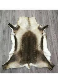 deer area rugs real reindeer deer hide area rug carpet