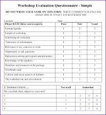Workshop Evaluation Form Enchanting A Useful Training Feedback Form Template Word Safety