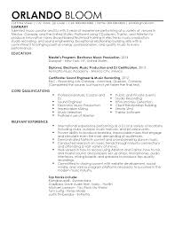 Cv Vs Resume Examples Professional DJ Resume Templates To Showcase Your Talent 93