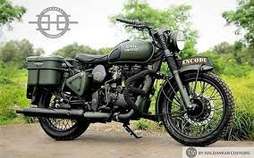 modified royal enfield clic looks