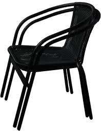 image black wicker outdoor furniture. marko outdoor black wicker rattan bistro chair metal frame woven seat indoor 2 chairs amazoncouk garden u0026 outdoors image furniture
