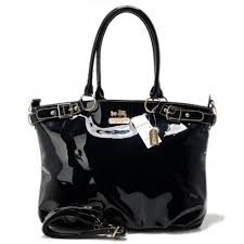 Coach Madison Kelsey Smooth Large Black Satchels ABN