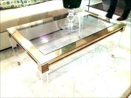 clear acrylic coffee table square