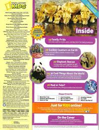 National Geographic for Kids May 2013 Table of Contents Library