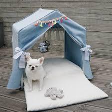 small dog furniture. Lucky Blue Peekaboo Dog House (Petit) Small Furniture