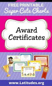 Free Printable Award Certificates For Kids Acn Latitudes