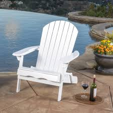 hayle outdoor reclining wood adirondack chair with footrest by christopher knight home free today 18530513