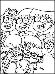 Lincoln Loud House Coloring Pages The Book Plus With Printable