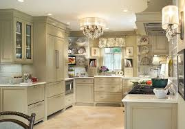 transitional crystal chandeliers kitchen shabby chic style with shaker kitchen wall scon
