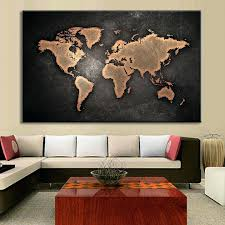 paintings for office walls. Office Wall Painting 1 Set Huge Black World Map Paintings Print On Canvas Abstract For Walls N
