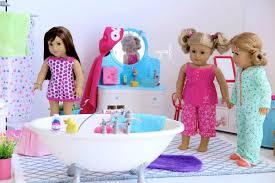 american girl doll bathroom toilet vanity shower bath