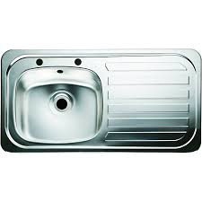 Wickes Rae 15 Rhd Bowl Kitchen Stainless Steel Sink U0026 Drainer Kitchen Sinks Wickes
