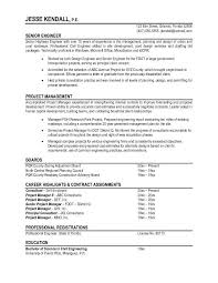 Non Chronological Resume Sample