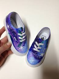 size 4 kds infant toddler vans painted galaxy shoes kids shoes custom nebula