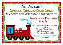 Train Birthday Invitations With Picture Birthday Invitations