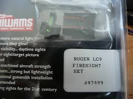 williams fire sight fiber optic sights light gathering for ruger lc9 lc9s lc380 2
